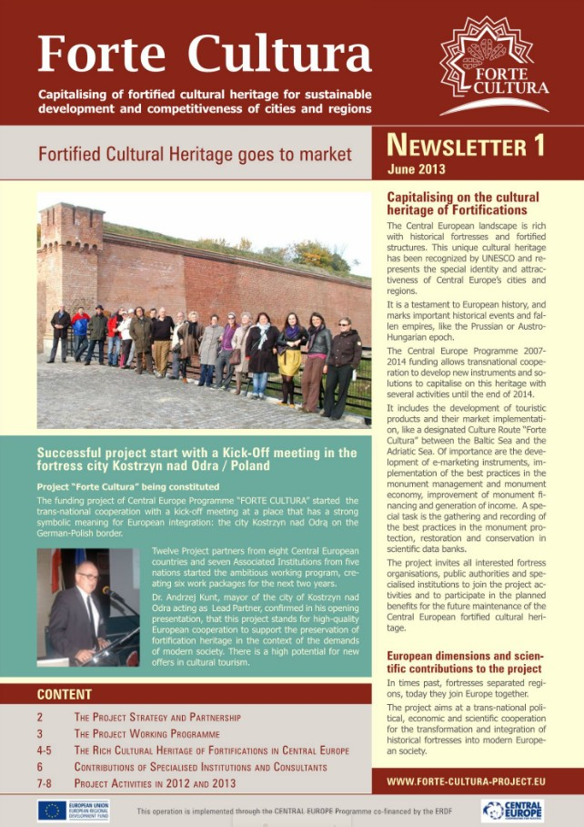 Forte Cultura newsletter No. 1 [flipping book]